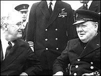 President Roosevelt and Winston Churchill