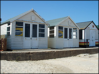Mudeford Sandbank huts