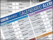 Calendario Alemania 2006 de BBC Mundo.