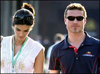 David Coulthard and his girlfriend Karen Minier
