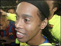 Ronaldinho fue el prinicipal baluarte del Barcelona campe�n.