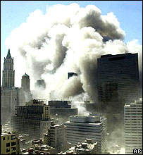 World Trade Center collapses in New York, 9 September 2001