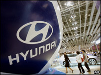 Hyundai display at recent motor show
