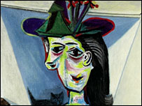 Picasso's Dora Maar With Cat (detail)