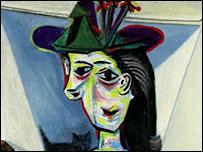 Picasso's Dora Maar With Cat (detail)