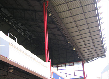 The art-deco style East Stand