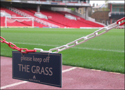 Sections of the Highbury turf are already up for auction