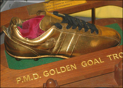 The golden boot Charlie George was given for scoring the winner in the 1971 FA Cup final