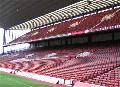 The North Bank was rebuilt in 1993