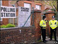 West Midlands polling station