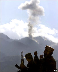 US air strikes on Tora Bora in December 2001