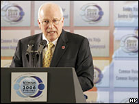 Dick Cheney speaks in Vilnius, Lithuania