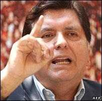 Presidential candidate Alan Garcia