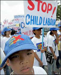 Anti-child labour march in Thailand