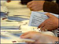 Postal votes being counted