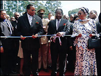 President Mugabe opens the road