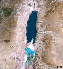 Satellite image of the Dead Sea (Science Photo Library