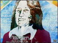 Mural of Bobby Sands in west Belfast