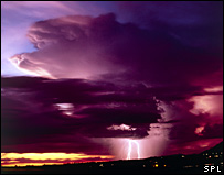 Thundercloud with lightning and rain (SPL)