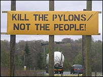Protest sign near Dunblane (Picture by Duncan Kirkhope)