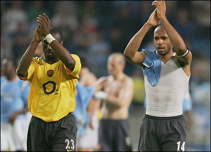 Sol Campbell and Thierry Henry