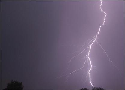Lightning over Burnside Station