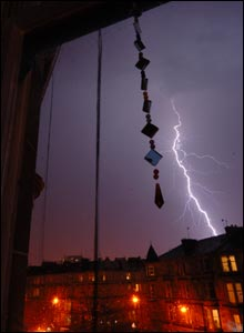 Picture from a flat in the west end of Glasgow