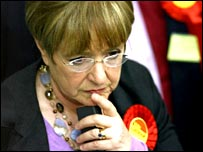 Margaret Hodge, Labour minister, at the Barking count