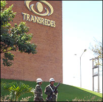 Military police outside Transredes