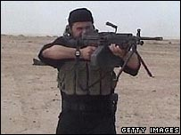 Abu Musab al-Zarqawi, in clips released by the US military on Thursday
