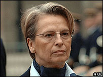 French Defence Minister Michele Alliot-Marie