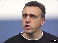 Hearts head coach Valdas Ivanauskas