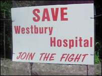 Sign in Westbury