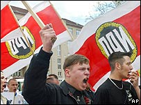 March by far-right National Democratic Party (NPD) in Berlin (archive pic)