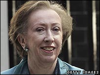 Margaret Beckett at PM's residence in Downing Street, London, on Friday
