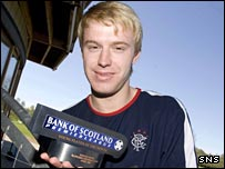 Steven Smith with his Bank of Scotland award