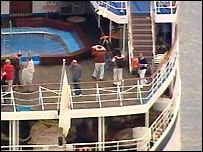 Passengers on board the Calypso