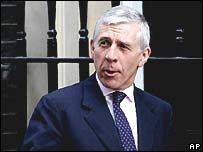 Jack Straw at PM's residence in Downing Street, London, on Friday