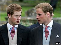 Princes Harry (left) and William