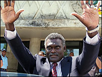 Solomon Islands PM Manasseh Sogavare (file image from May 2006)