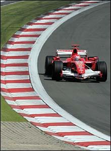Michael Schumacher in action