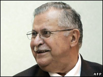 Jalal Talabani of the Patriotic Union of Kurdistan