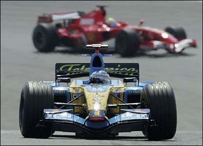 Fernando Alonso in action for Renault