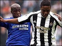 Lassana Diarra and Charles N'Zogbia