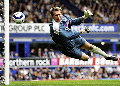 West Brom keeper Tomasz Kuszczak makes a save