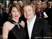 Jules and Jamie Oliver