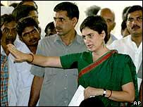 Priyanka Gandhi campaigning in Rae Bareilly