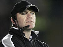 Mike Ford watches a Saracens match