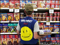 Wal-Mart employee at a store in the US