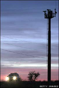 US border surveillance tower near Nogales, Arizona